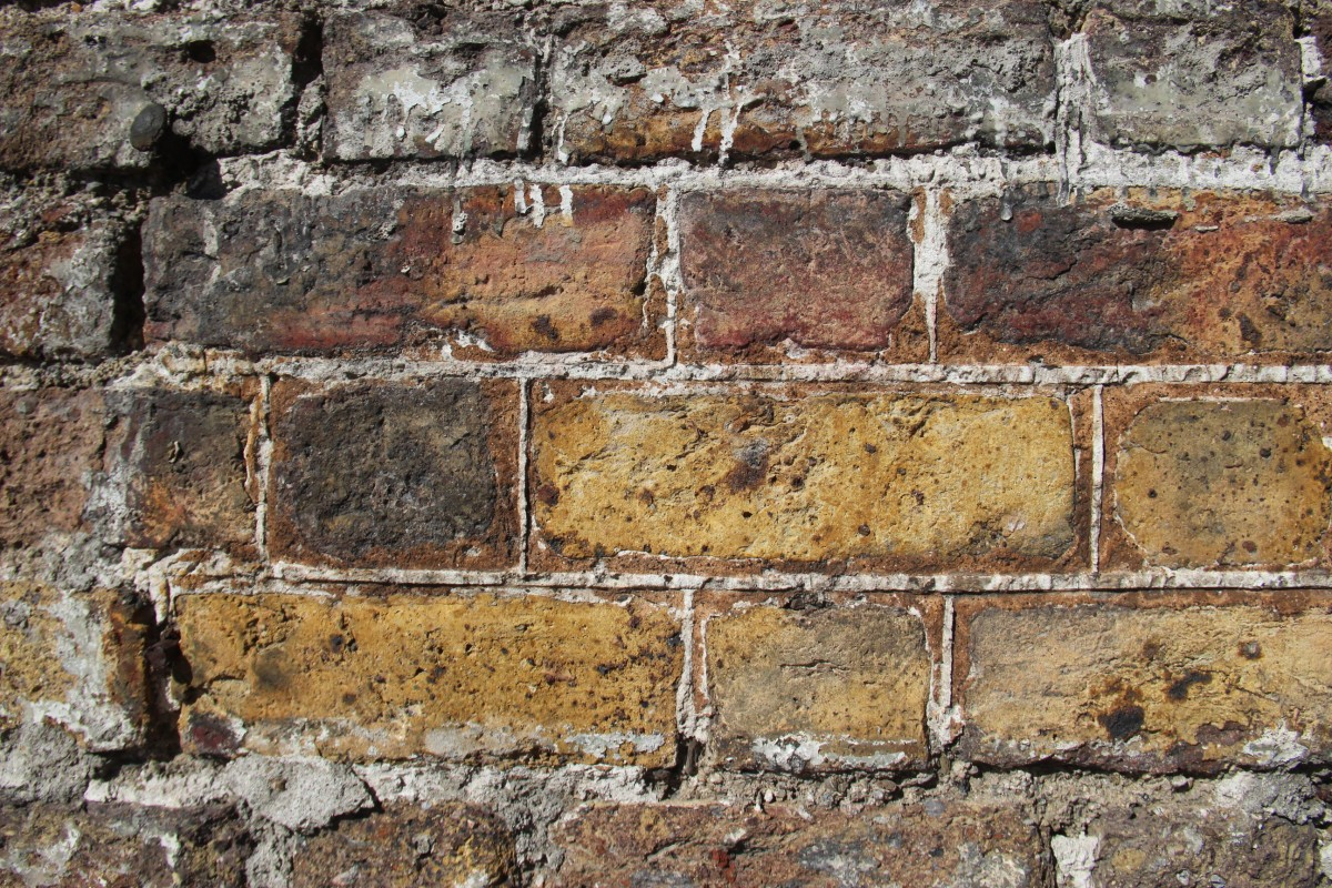 Original wigging sample on 18 Ormond Quay with a dark yellow stopping mortar
