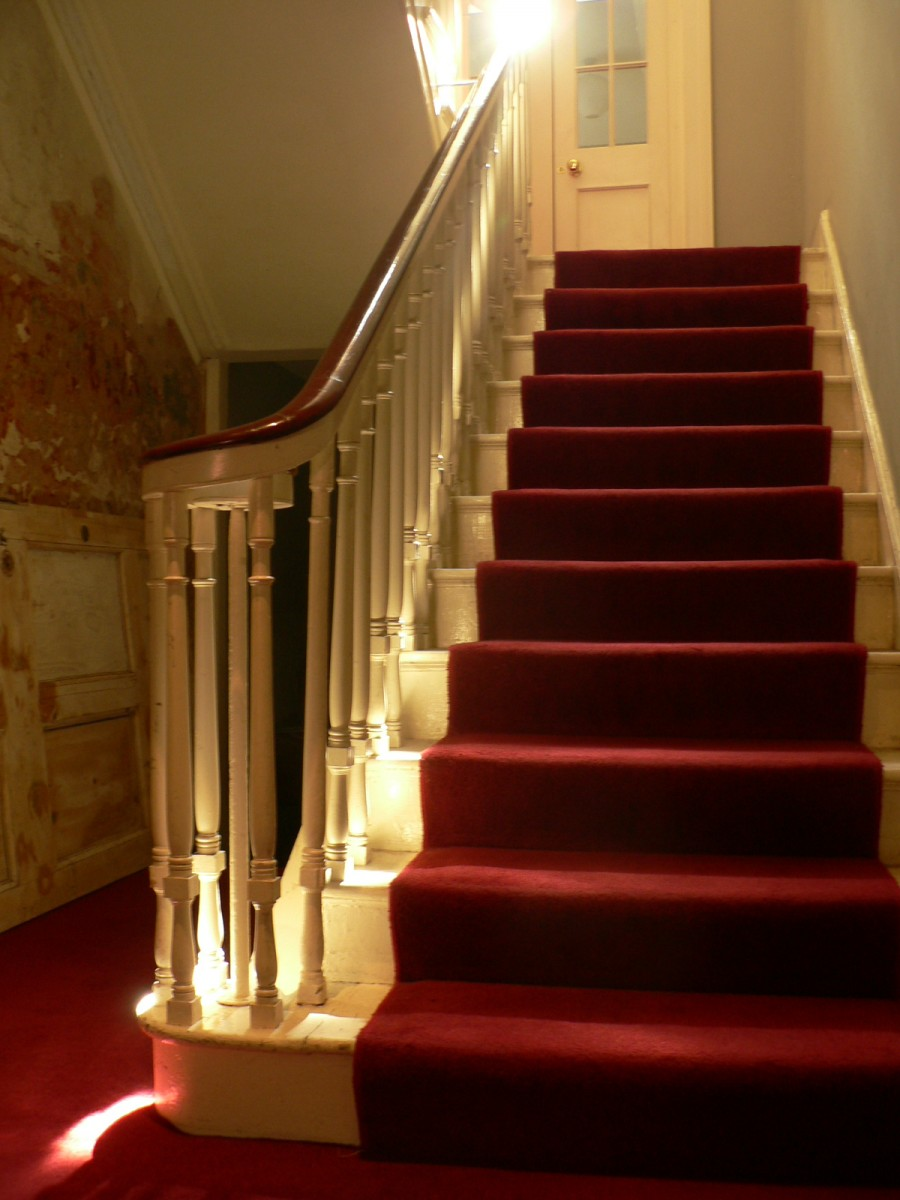 Restored staircase typical of early 19th-century Dublin