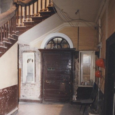 Entrance hall to Number 11 during renovation