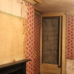 Second floor rear room with 1840s shutterbox, plasterwork and chimneypiece