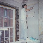 First floor being replastered with a hand-run cornice in the 1990s